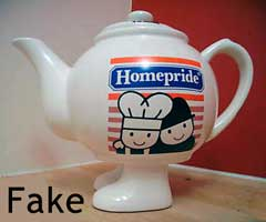 Fake Homepride WaLking Ware teapot