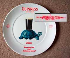 Fake Carlton Ware Guinness plate with tortoise