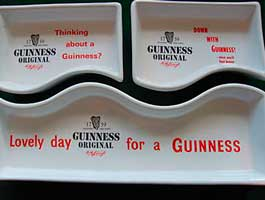 Fake Carlton Ware Guinness dishes - set of three