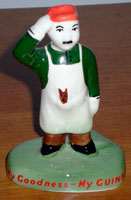 Fake Carlton Ware Guinness zoo keeper