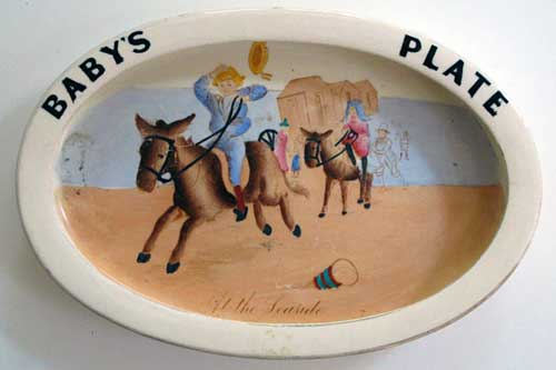 Carlton Ware Baby's Plate - At the Seaside.
