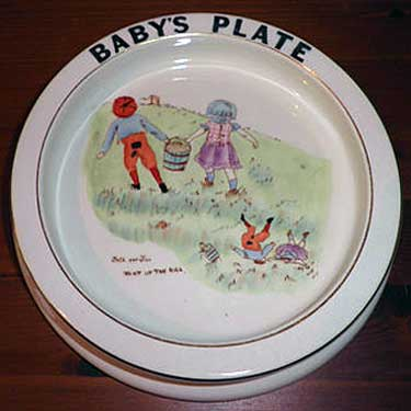Carlton Ware Baby's Plate - Jack and Jill went up the hill