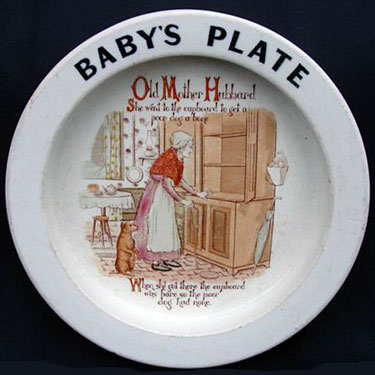 Carlton Ware Baby's Plate - Old Mother Hubbard