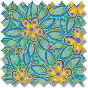 Fabric design based on Carlton Ware STAR FLOWER pattern 2