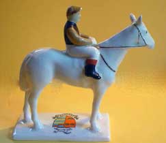 Carlton Ware Heraldic China Racehorse & Jockey