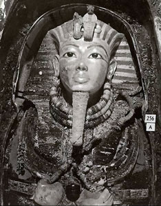 Tut's mask © Griffith Institute, University of Oxford
