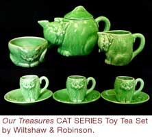 CAT SERIES Treasures Toy Tea Set by Wiltshaw & Robinson