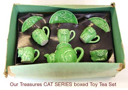 Boxed Our Treasures Toy Tea Set - CAT SERIES by Wiltshaw & Robinson