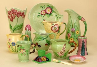 A selection of Carlton Ware's Fruit and Floral Embossed ranges