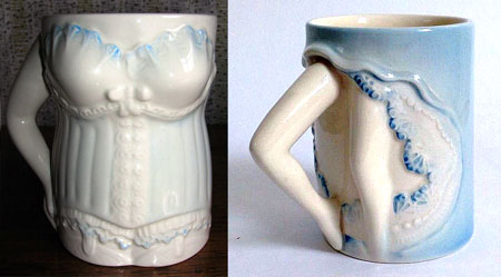 Carlton Ware CORSET and CAN-CAN mugs