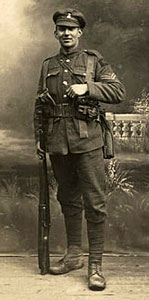 Studio picture of a typical WW1 soldier.
