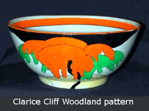 Clarice Cliff Woodland bowl